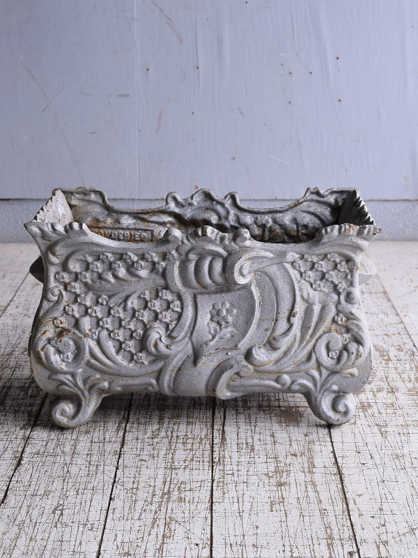 フレンチ アンティーク 鉄製 プランター 植木鉢 9148