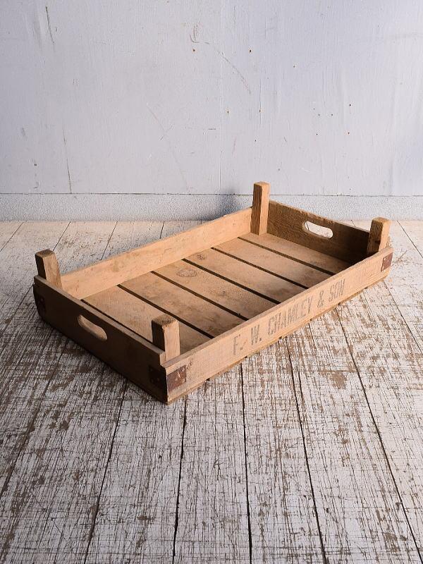 イギリス アンティーク ベジタブルキャリー 木箱 9155