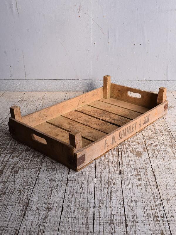 イギリス アンティーク ベジタブルキャリー 木箱 9158