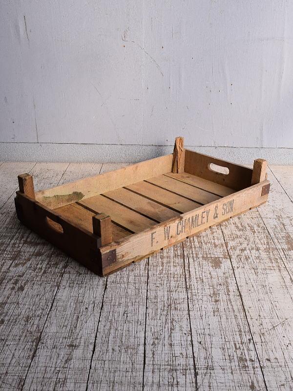 イギリス アンティーク ベジタブルキャリー 木箱 9159