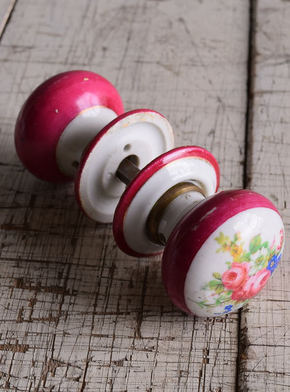 イギリス 陶器製 ドアノブ 建具金物 握り玉 9161