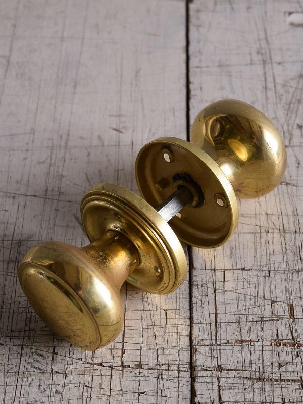 イギリス 真鍮製 ドアノブ 建具金物 握り玉 9164