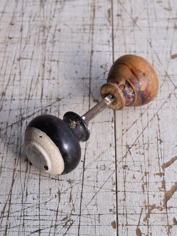 イギリス アンティーク 木製 ドアノブ 建具金物 握り玉 9205