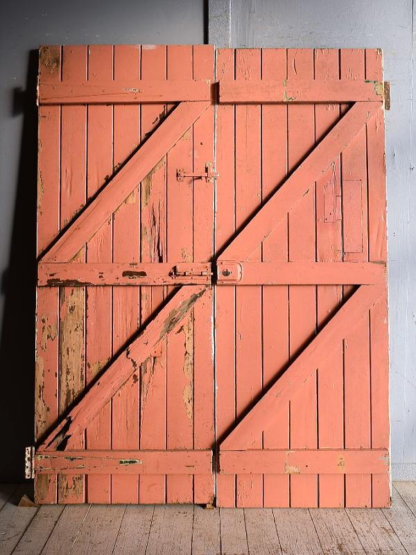イギリス アンティーク ドア×2 扉 建具 9210