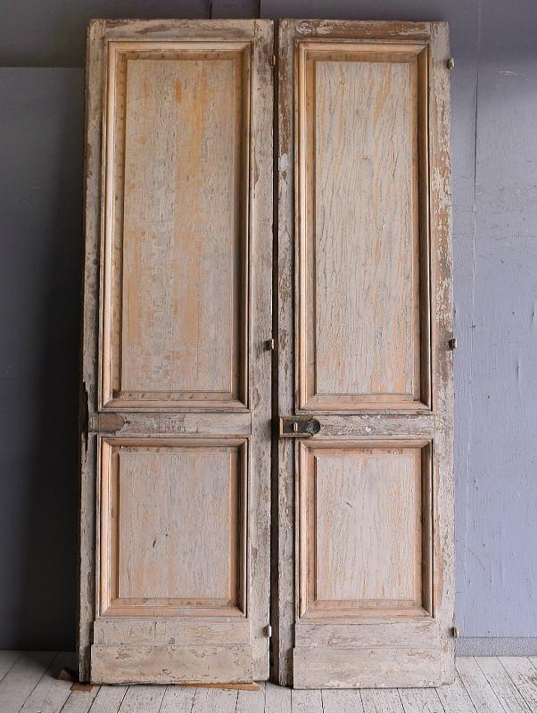 フレンチ アンティーク ドア 扉 建具×2  9227