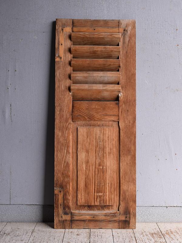 ルーマニア製 アンティーク 木製ルーバー雨戸 ディスプレイ 建具 9235