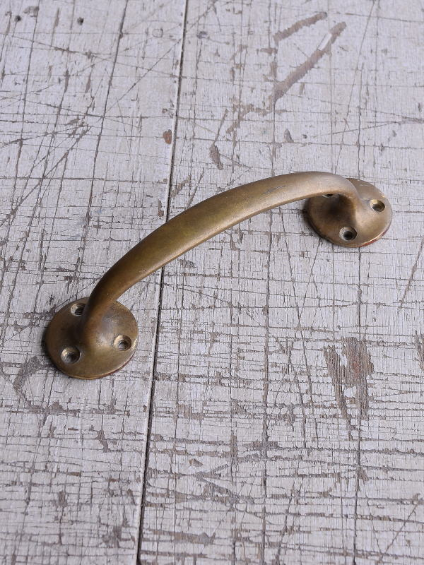 イギリス アンティーク 真鍮ハンドル 建具金物 取っ手 9244