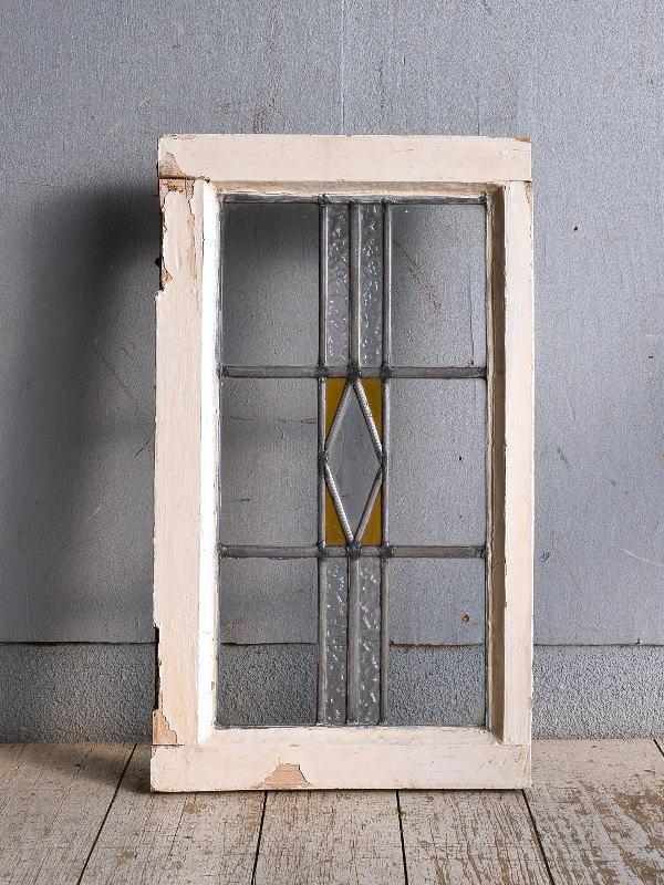 イギリス アンティーク ステンドグラス 幾何学 9261