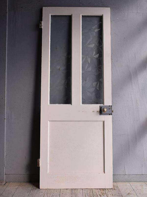 イギリス アンティーク ガラス入りドア 扉 建具 9277