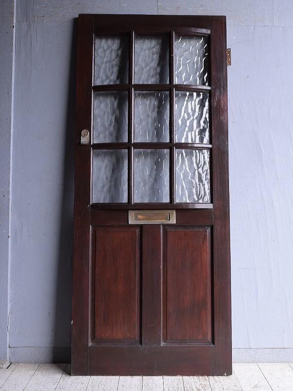 イギリス アンティーク ガラス入りドア 扉 建具 9282