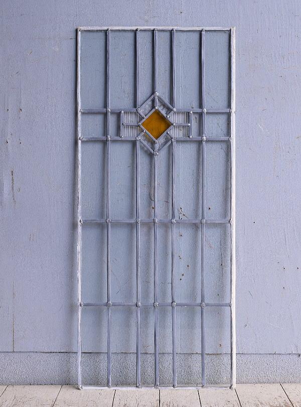 イギリス アンティーク ステンドグラス 幾何学 9287