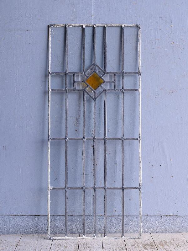 イギリス アンティーク ステンドグラス 幾何学 9288