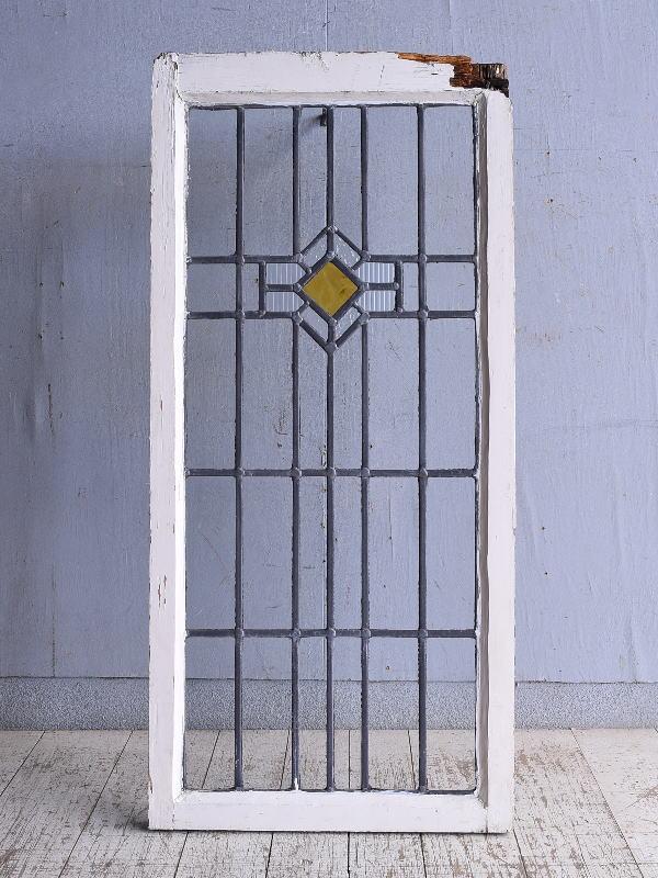 イギリス アンティーク ステンドグラス 幾何学 9290