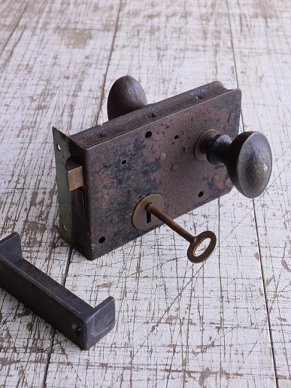 イギリス アンティーク ラッチ&ドアノブ 建具金物 9291