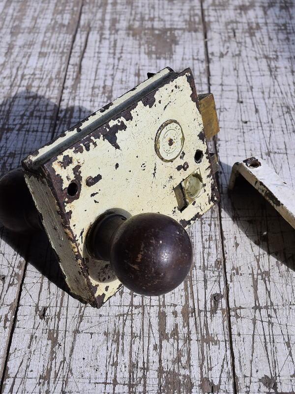 イギリス アンティーク ラッチ&ドアノブ 建具金物 9295
