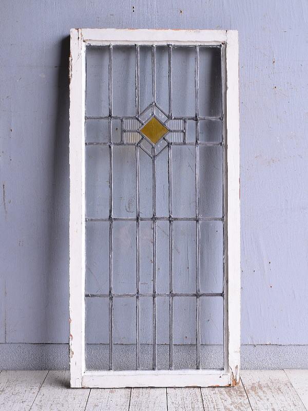 イギリス アンティーク ステンドグラス 幾何学 9321