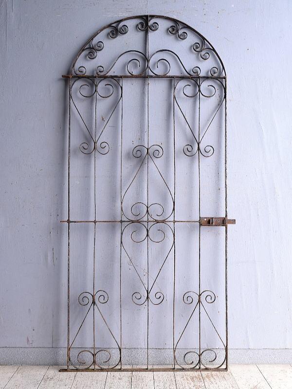 イギリスアンティーク アイアンフェンス ゲート柵 ガーデニング 9341