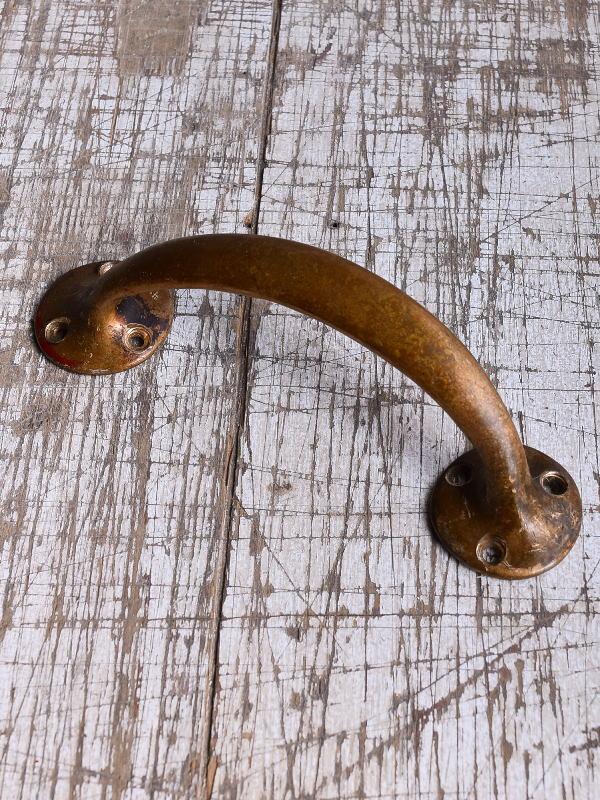 イギリス アンティーク 真鍮ハンドル 建具金物 取っ手 9418