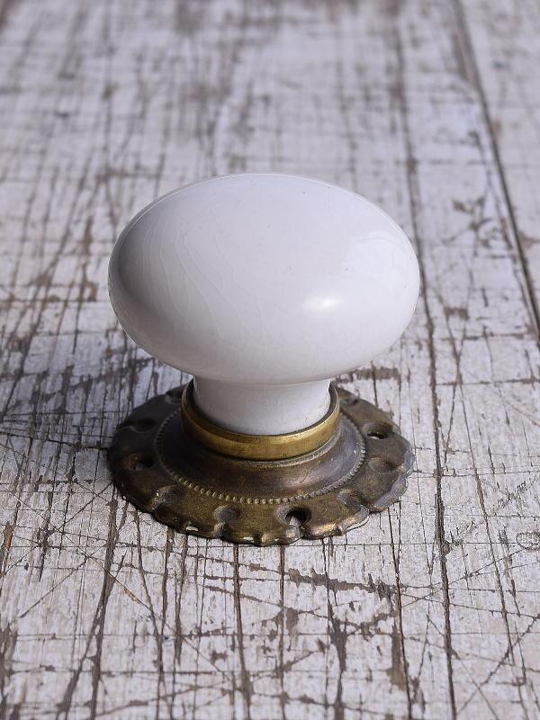 イギリス アンティーク 陶器製ドアノブ 建具金物 取っ手 9450