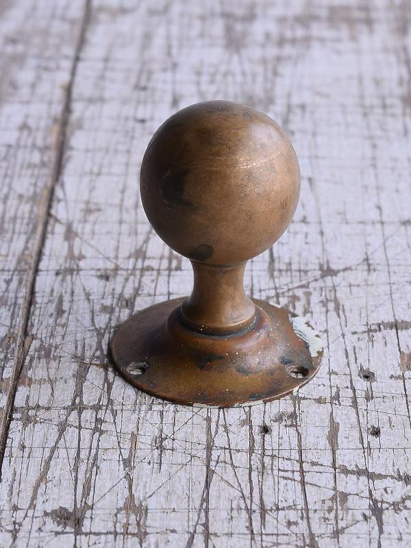 イギリス アンティーク 真鍮製ドアノブ 建具金物 取っ手 9453