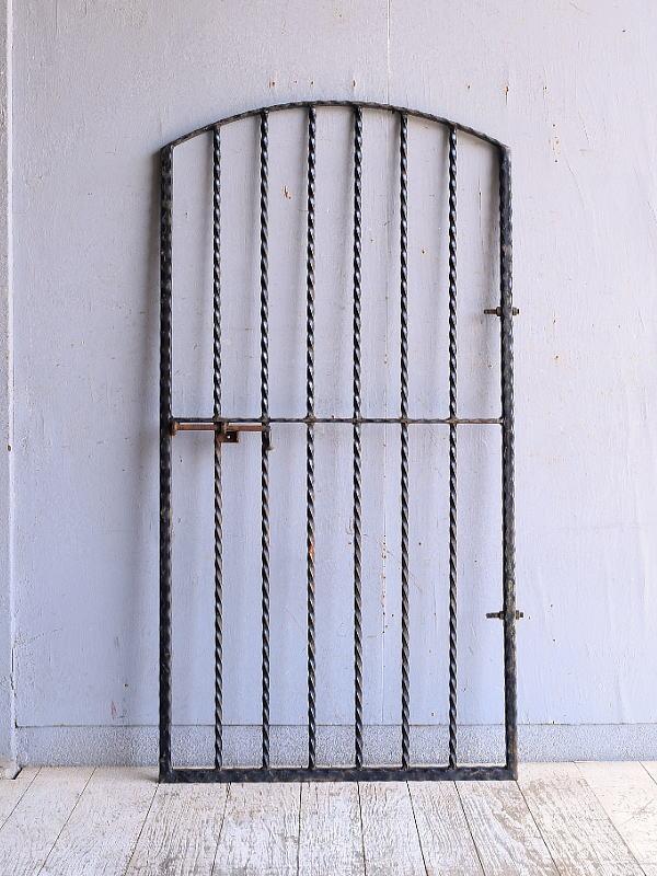 イギリス アンティーク アイアンフェンス ゲート柵 ガーデニング 9491