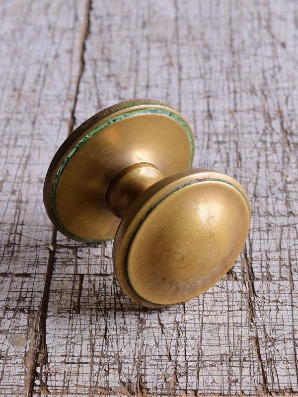 イギリス アンティーク 真鍮製ドアノブ 建具金物 取っ手 9496