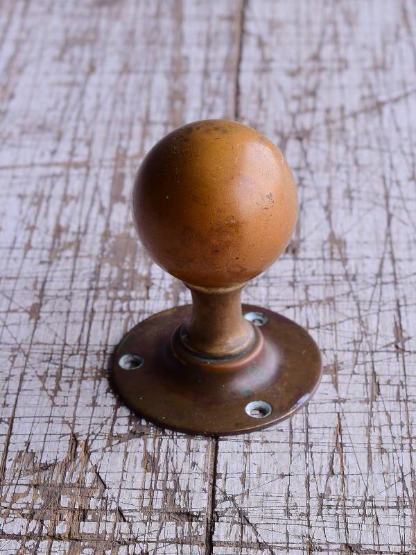 イギリス アンティーク 真鍮製ドアノブ 建具金物 取っ手 9497