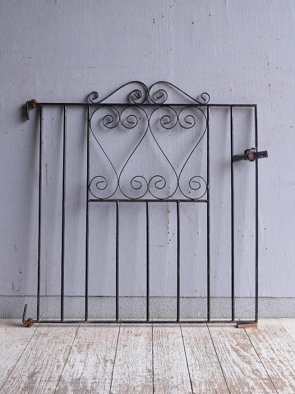 イギリス アンティーク アイアンフェンス ゲート柵 ガーデニング 9523