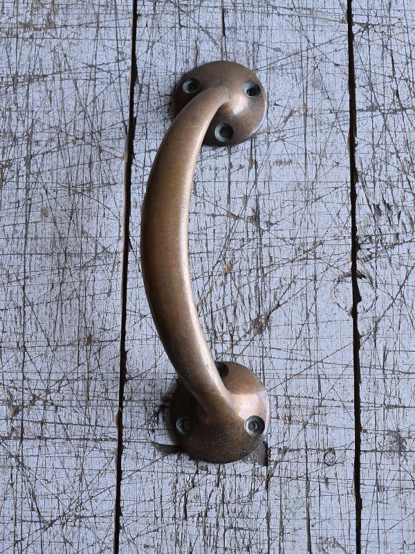 イギリス アンティーク 真鍮ハンドル 建具金物 取っ手 9536