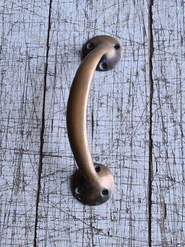 イギリス アンティーク 真鍮ハンドル 建具金物 取っ手 9537