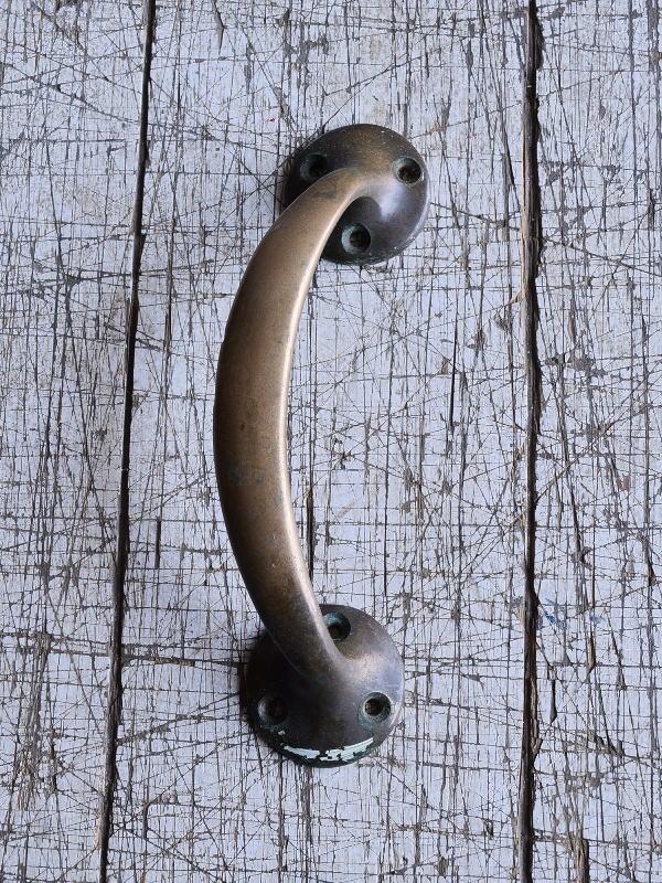 イギリス アンティーク 真鍮ハンドル 建具金物 取っ手 9538
