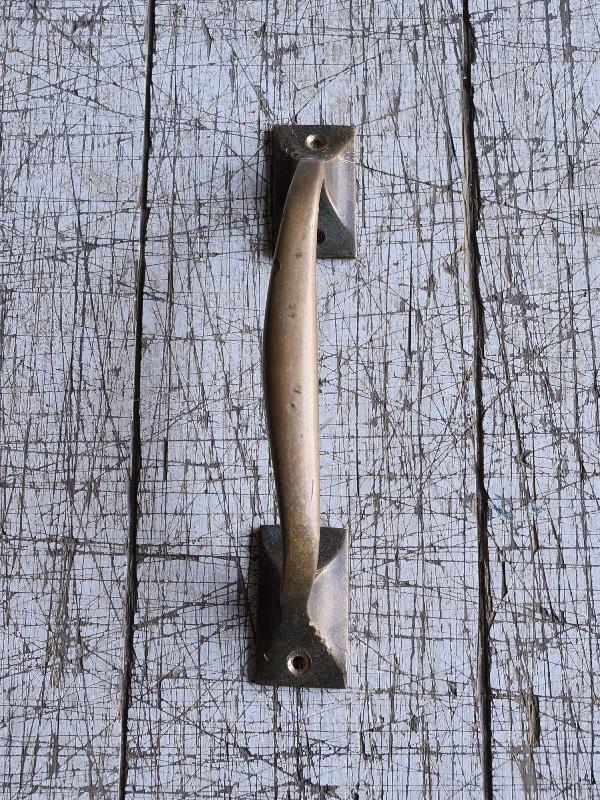 イギリス アンティーク 真鍮ハンドル 建具金物 取っ手 9539