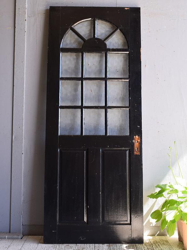 イギリス アンティーク ガラス ドア 扉 建具 9552