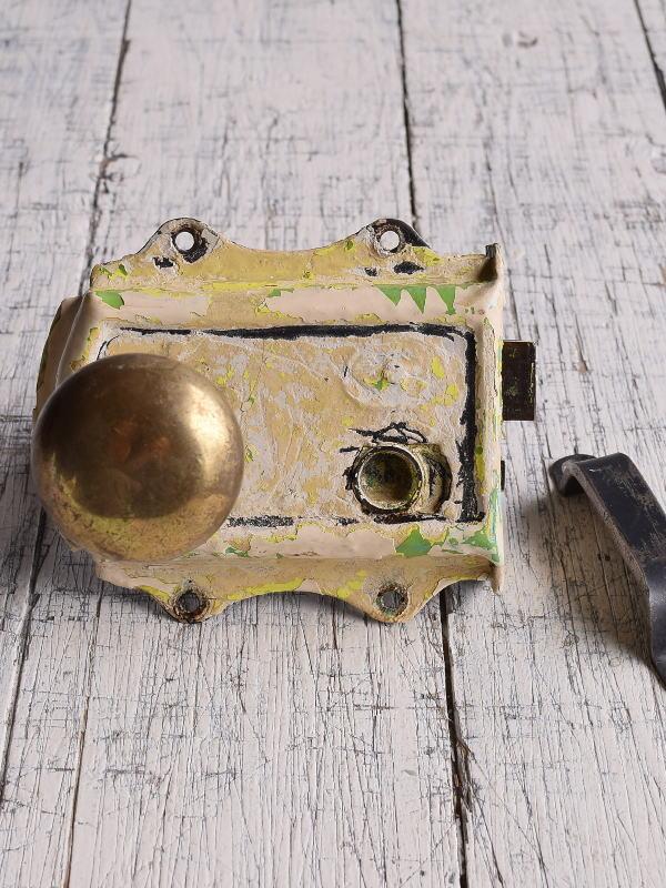 イギリス アンティーク ラッチ&ドアノブ 建具金物 9563