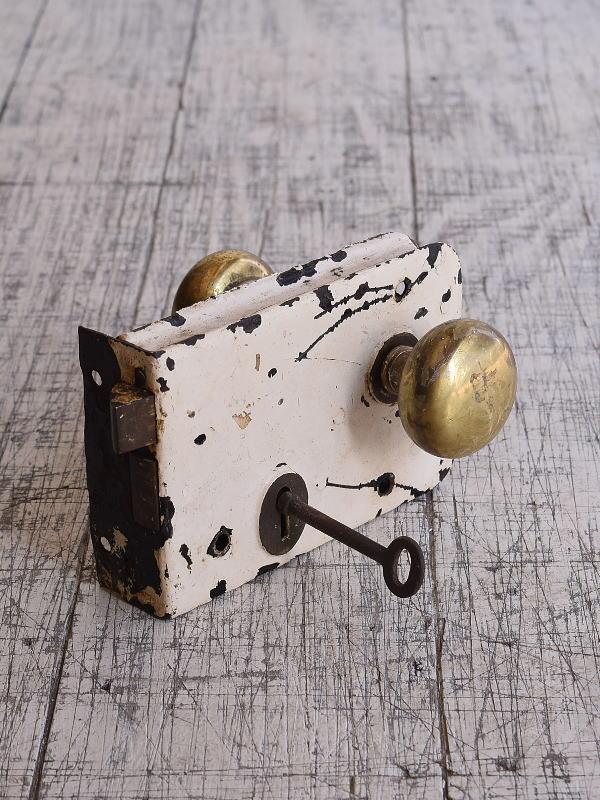 イギリス アンティーク ラッチ&ドアノブ 建具金物 9642