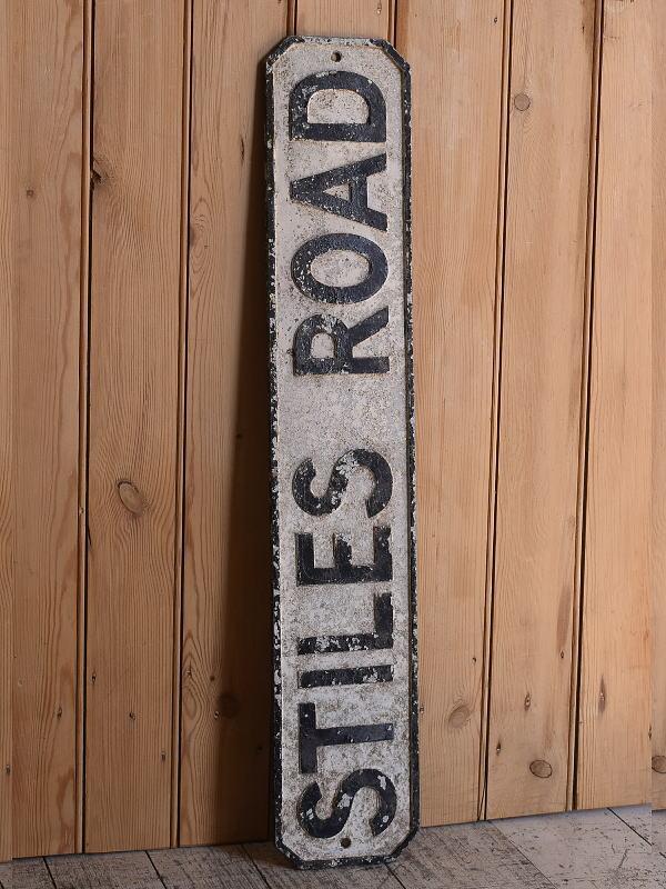 イギリス アンティーク アルミ製 道路標識 9707