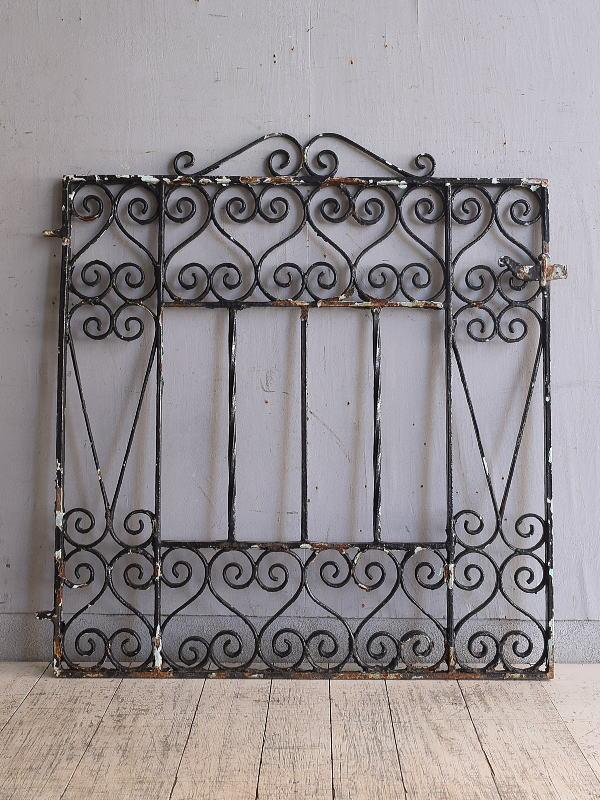 イギリス アンティーク アイアンフェンス ゲート柵 ガーデニング 9722