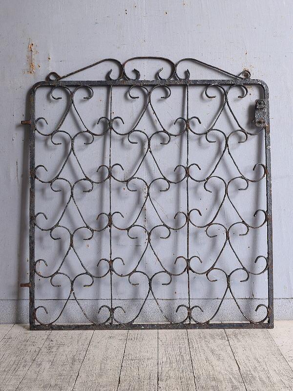 イギリス アンティーク アイアンフェンス ゲート柵 9725