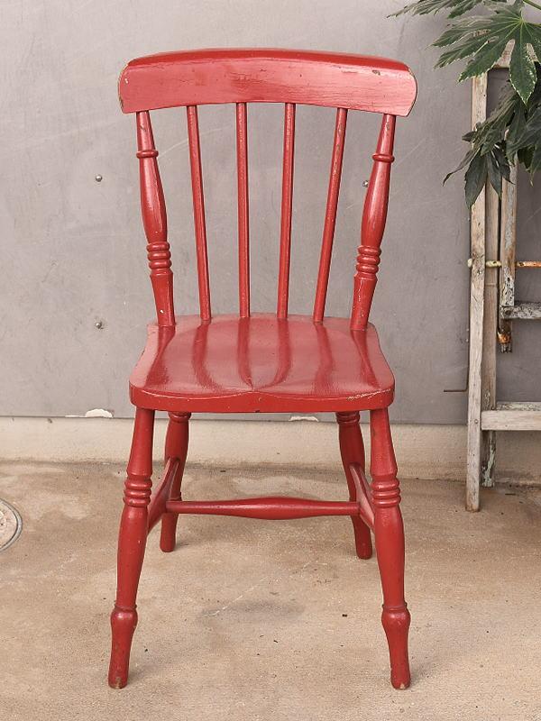 イギリス アンティーク家具 キッチンチェア 椅子 9729