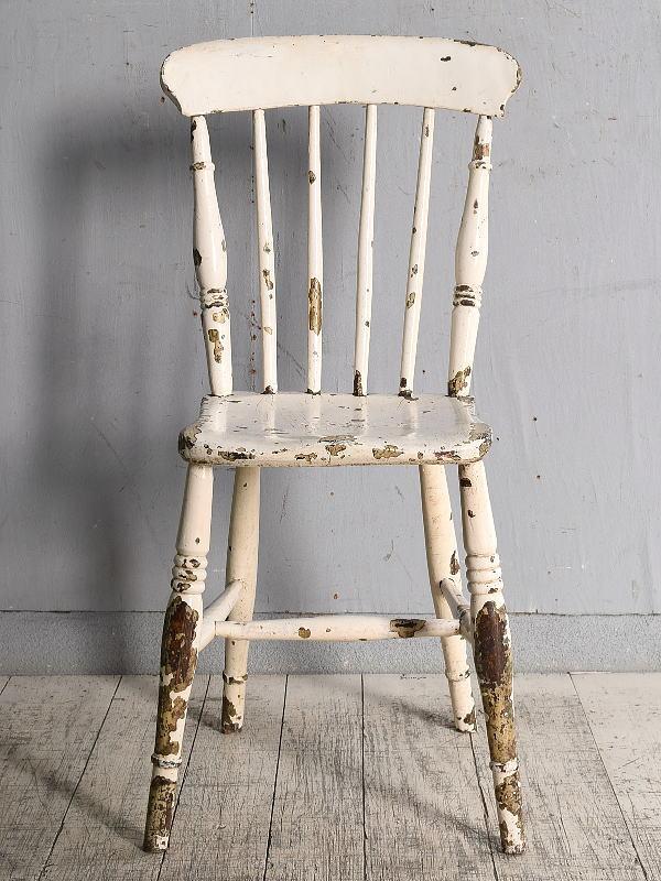 イギリス アンティーク家具 キッチンチェア 椅子 9730