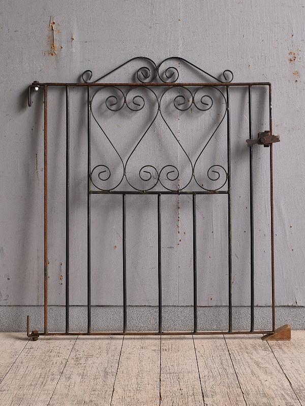 イギリス アンティーク アイアンフェンス ゲート柵 9732