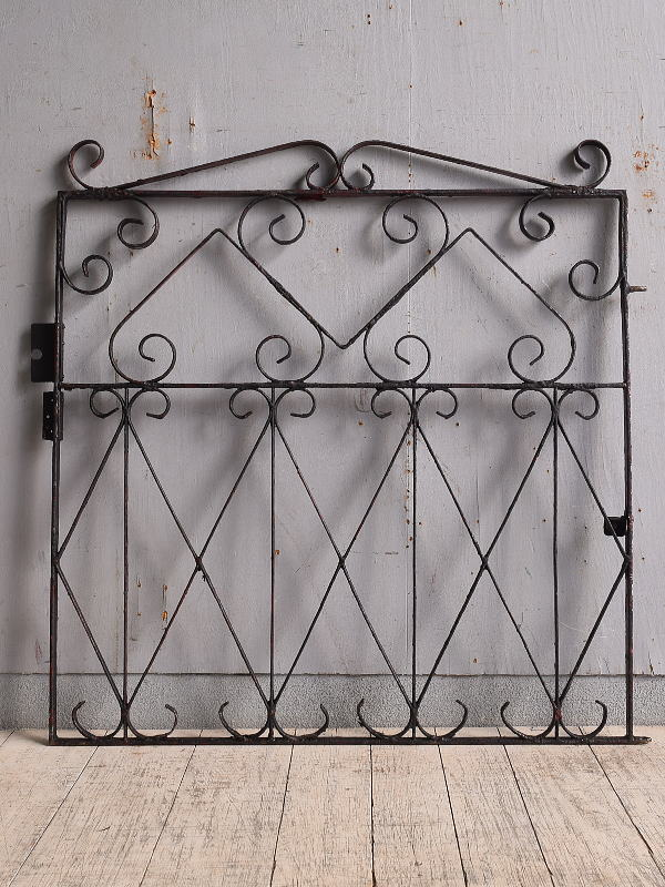 イギリス アンティーク アイアンフェンス ゲート柵 9733