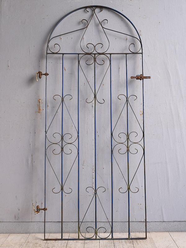 イギリスアンティーク アイアンフェンス ゲート柵 ガーデニング 9759