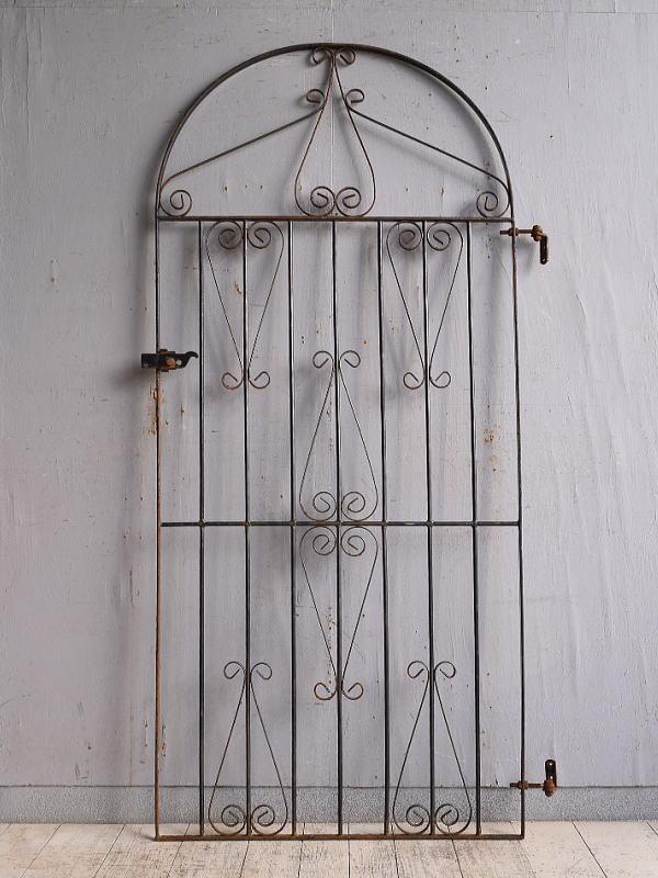 イギリスアンティーク アイアンフェンス ゲート柵 ガーデニング 9760