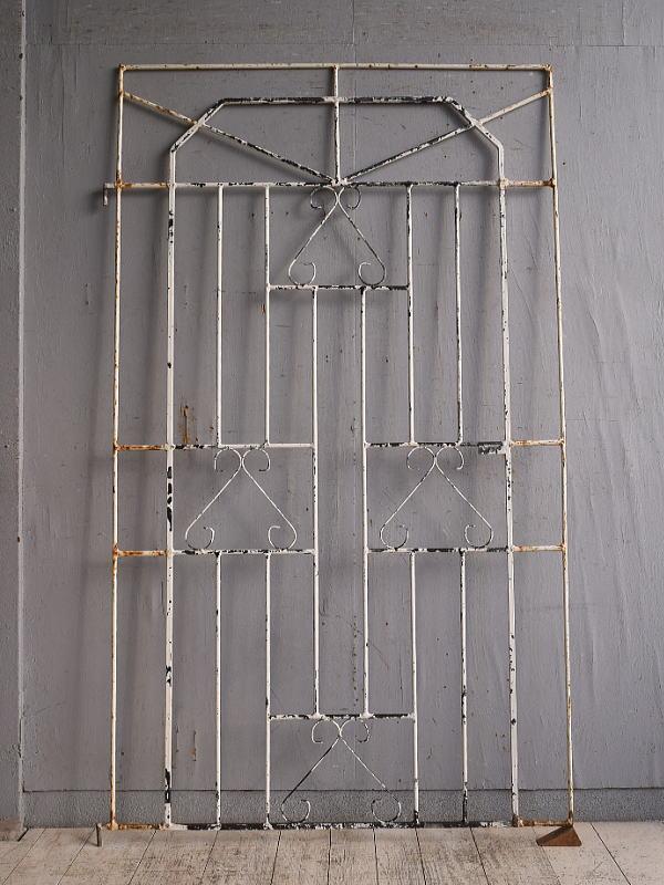 イギリスアンティーク アイアンフェンス ゲート柵 ガーデニング 9762