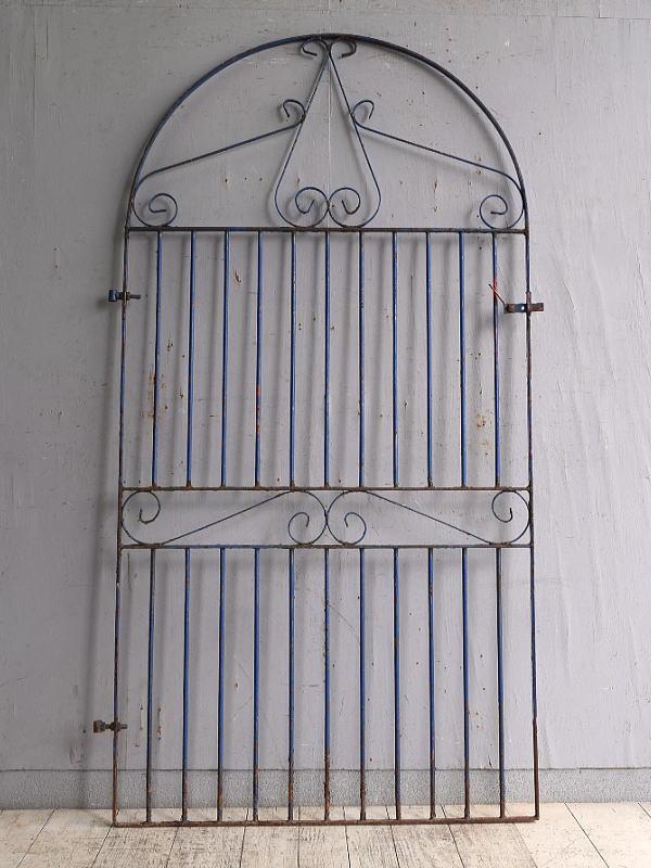 イギリスアンティーク アイアンフェンス ゲート柵 ガーデニング 9785
