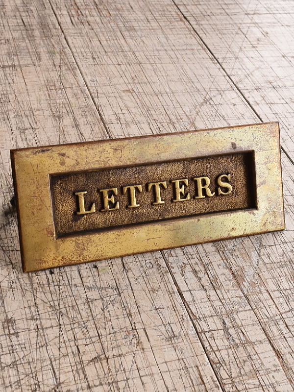 イギリス アンティーク レタースロット 郵便受け 建具金物 9787