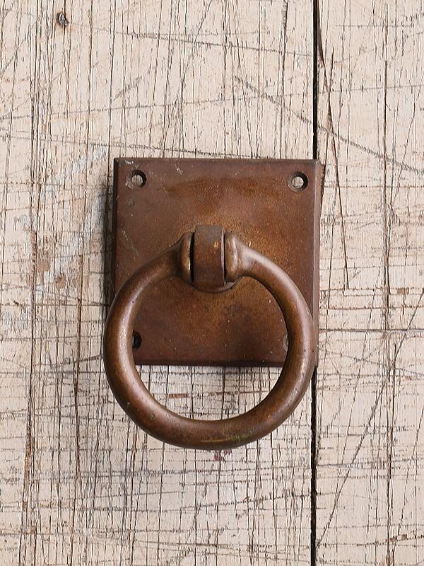 イギリス アンティーク 真鍮製 取っ手 丸釻 9791
