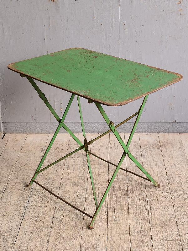 フレンチ アンティーク アイアン ガーデンテーブル 折り畳み 9805