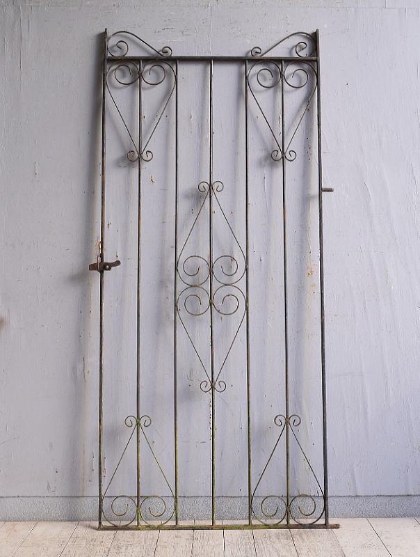 イギリスアンティーク アイアンフェンス ゲート柵 ガーデニング 9829